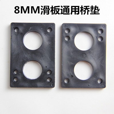 2PCS 82*56*8mm ABS Riser Pad for Skateboard Longboard Shock Proof Parts