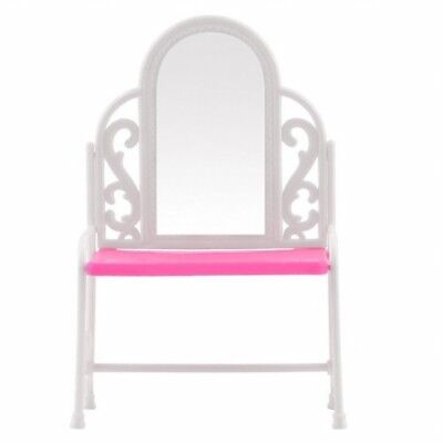 Dressing Table & Chair Accessories Set For Barbies Dolls Bedroom Furniture W2U6