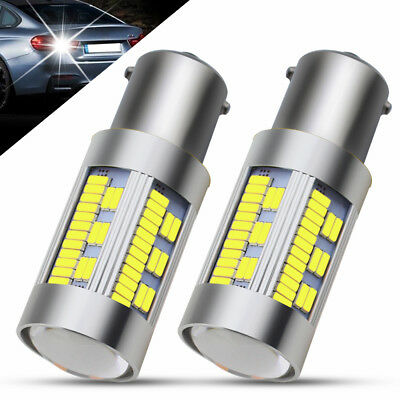 2Pcs Canbus 3600LM 1156 BA15S PY21W White 105SMD 4014 LED Car Turn Signal Lights