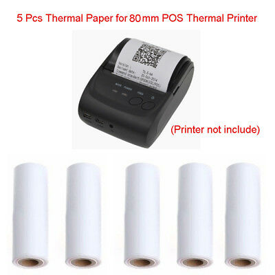 5Pcs 80x30MM Thermal Receipt Paper Roll For Mobile 80MM POS Thermal Printer Hot