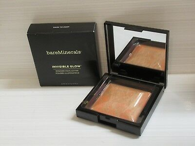 Bare Minerals Invisible Glow Powder Highlighter Dark To Deep 0.24 Oz. Boxed