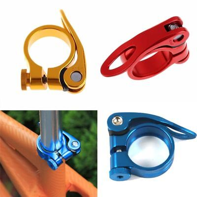 Mountain Bike Seatpost Clamp Quick 31.8mm MTB Cycling Saddle Seat Post Clamp