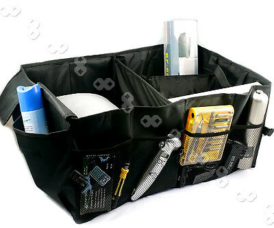 WE Heavy Duty Collapsible Car Boot Trunk Organiser Foldable Tidy Storage Bag