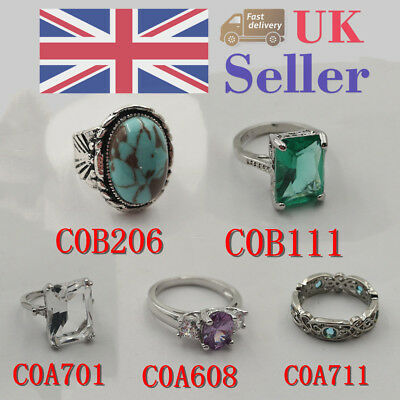 *UK* Elegant Women's Ring Wedding/Engagemen/Valentinet Jewelry Gift Size 6-10