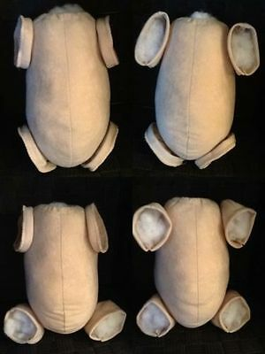 Beige/skin Tone Doe Suede Overlocked Body For Reborn Baby In Multiple Variations