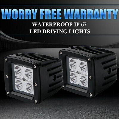 2X16W Spot  Beam LED Work Light Cube Pods Offroad Truck Jeep Square Vehicle Lamp