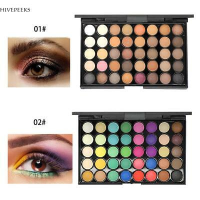 Eyeshadow Palette Makeup Cream Eye Shadow Shimmer 40 Colors Matte Cosmetic New