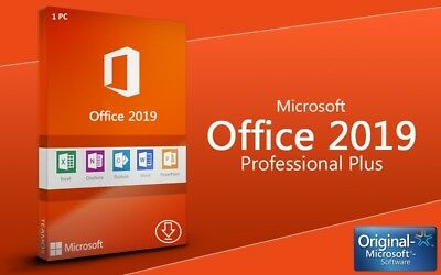 Microsoft Office 2019 Professional Plus Outlook Access Publisher Vollversion 1PC