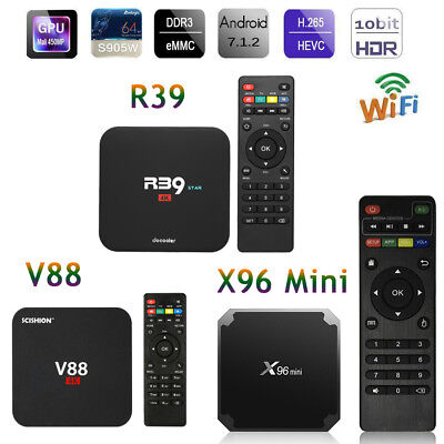 V88 / R39 / X96Mini TV Box Android7.1 Quad Core 4K RK3229/S905W 8G/16G WiFi Z5B1