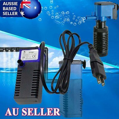 3in1 Aquarium Internal Filter Oxygen Submersible Water Pump Fish Tank Pond KQ