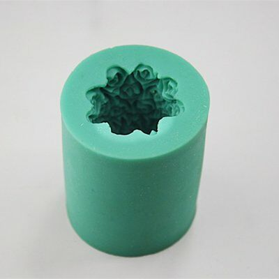 Round Rose Silicone Soap Cake Candle Mold Cookie Candy Craft Diy Mould KQ