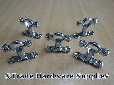 Chrome Plated Brass Munsen Ring Bracket Pipe Clips with Backplates