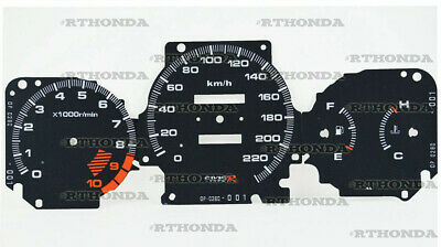 Gauge Faces Overlay kit Type-R style  for Honda Civic Ek VTI / SI