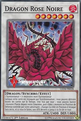 ♦Yu-Gi-Oh!♦ Dragon Rose Noire (Black) : LED4-FR028 -VF/Commune-