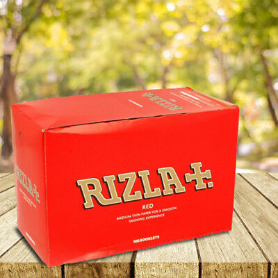 Genuine Rizla Red Regular Cigarette Gummed Rolling Paper Smooth Smoking Booklets