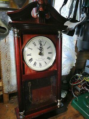 Wall Clock with pendulum and chime battery operated Westminster chime