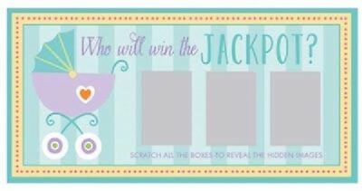 ** Baby Shower 12 Game Scratch Cards 1 Jackpot Gender Reveal Party