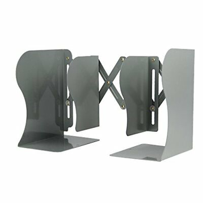 Magic - Soporte extensible de metal para libros de texto, libros, (gris)
