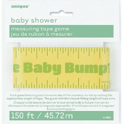 Baby Shower Measuring Tape Game 150ft Guess The Bump Size Gender Reveal Party