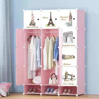 DIY 12 Cube Closet Wardrobe Modular Storage Organizer Clothes Shoe Bookcase Toy