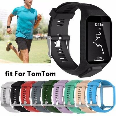 For TomTom Runner 2 3/ Spark 3/ Golfer 2 Silicone Replacement Band Wrist Strap
