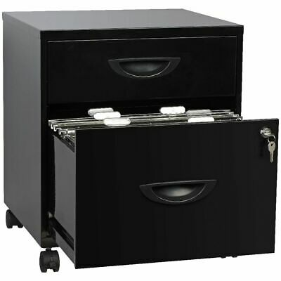 Soho 2 Drawer Filing Pedestal Black
