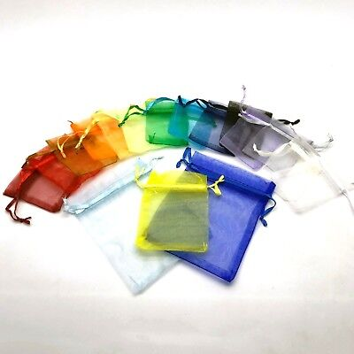 50 MIX COLOUR LUXURY Organza Gift Bags Jewellery Pouches XMAS Wedding Party