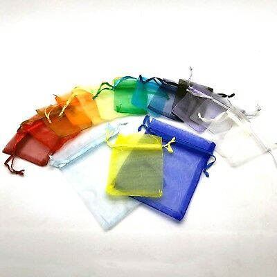 MIX COLOURS X50 Organzas Bags Jewellery Pouches XMAS Wedding Party Gift