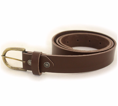 Indiana Jones Heavy Hide Leather Belt Adjustable - Made in UK by Wested Leather