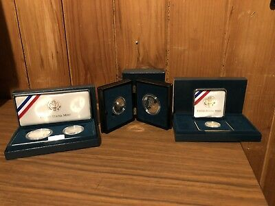 1995 Gold & Silver US Mint CIVIL WAR Commemerative Coin Set w/COA Papers & Boxes