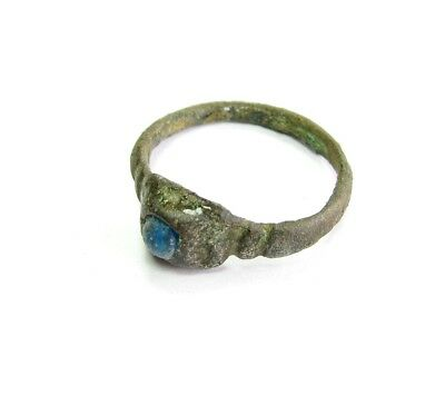 Аncient Artifact Bronze Medieval Ring Stone Kievan Rus Original Middle Ages