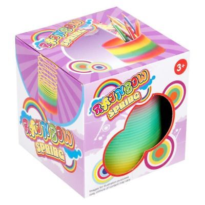 LARGE 6.5cm RAINBOW SPRING COIL SLINKY FUN KIDS TOY MAGIC STRETCHY BOUNCING