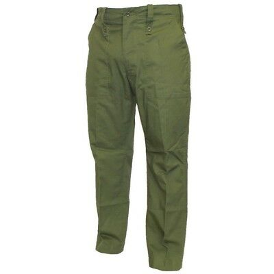 British Army Mens Lightweight Trousers Issued Surplus Fatigues Olive Green