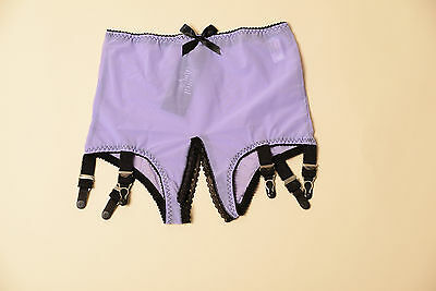 032 Revival Lingeriet crotchless girdle, 6 straps blue or  purple S-5XL