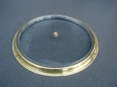 """Aneroid Barometer Brass Bezel & Bevel Edge Glass For 6"""" Dial Parts Spares"""