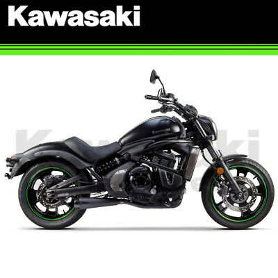 New 2015 - 2018 Two Brothers Racing Kawasaki Vulcan S 650 Black Exhaust System