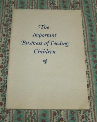 1928 Cream Of Wheat Booklet The Important Business Of Feeding Children