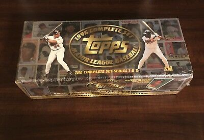1996 Topps Baseball Cards Complete Set - MLB - Free Shipping - Brand New