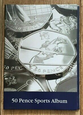 50P Coin Lighthouse Album For All 29 Olympic Fifty Pence Coins
