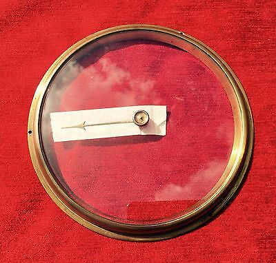 New Beveled Barometer Glass :- 4mm thick 200mm 45 Degree Bevel 4mm Centre Hole