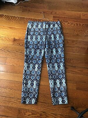 Ivanka Trump dark and light blue patterned Pants Size 8