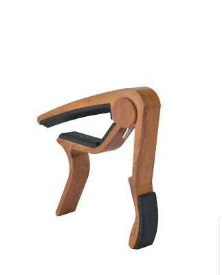 Guitar Capo Rosewood Acoustic/Electric Trigger Quick Change Key Clamp 6 String
