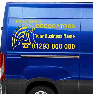 Painting & Decorating Van Stickers Stickers Decals Sign-making Free Design