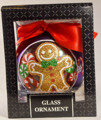 Classic Glass Ball - Gingerbread Man - Holiday Ornament