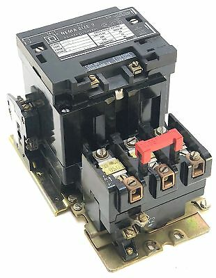 Square D 8536SDO1S Size 2 Motor Starter w/120 Vac Coil + NO Aux Switch (MS3)