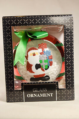 Classic Glass Ball - Santa With Presents - Holiday Ornament