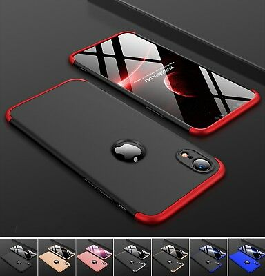 Hülle iPhone Xr Full Cover 360° Grad Handy Schutz Case Bumper Panzer Folie