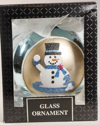 Classic Glass Ball - Snowman Throwing Snowball - Holiday Ornament