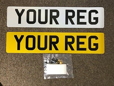Pair Of Uk Number Plates 100%mot & Road Legal With Fixings