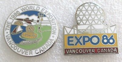 The 1986 World Exposition - Vancouver, Canada  Souvenir Pins-Expo 86 Lot of 2